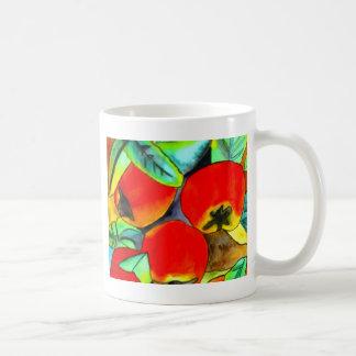 Pintura original del arte de la acuarela roja de l tazas de café
