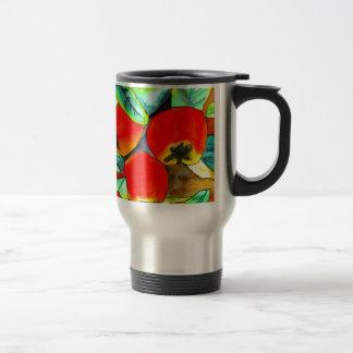 Pintura original del arte de la acuarela roja de l taza