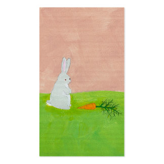 Pintura original del arte de la diversión linda de tarjetas de visita