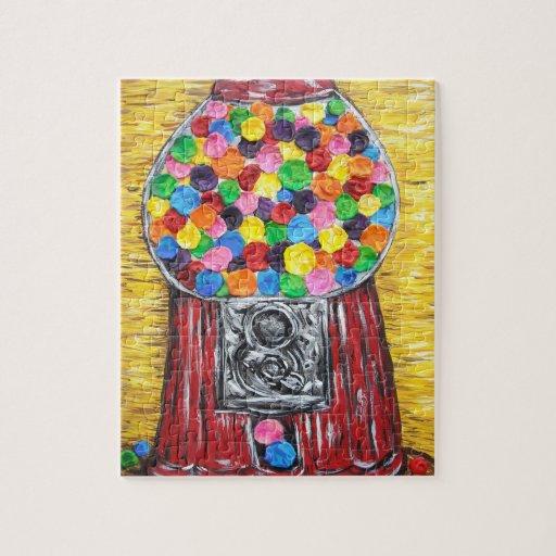 pintura original del arte de máquina de las bolas  puzzles con fotos