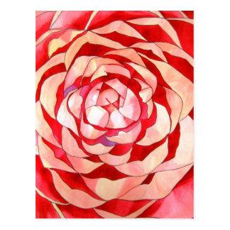 Pintura original del arte del extracto rosado de l postal