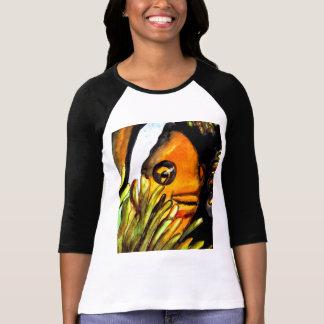 Pintura original del arte del payaso de la camiseta