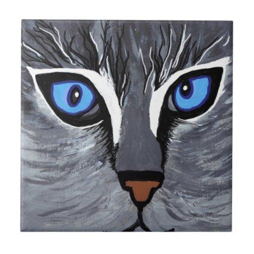 pintura original del brightblue de los cateyes azulejos ceramicos