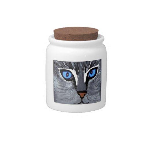 pintura original del brightblue de los cateyes jarra para caramelo