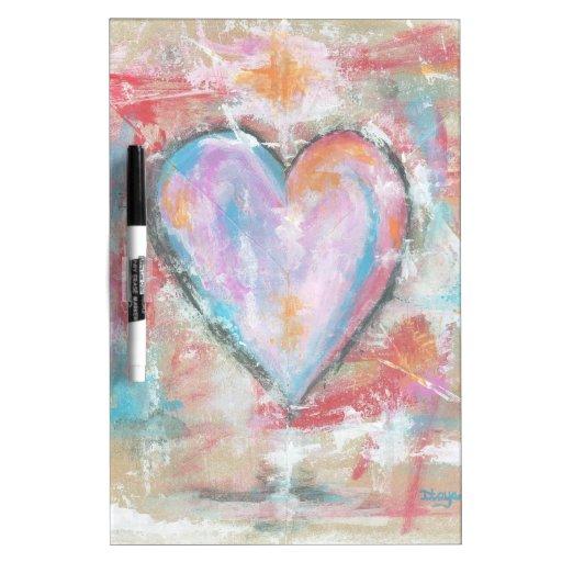 Pintura original del corazón imprudente del arte tablero blanco