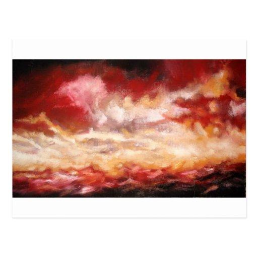Pintura original del paisaje marino - pintura del postal