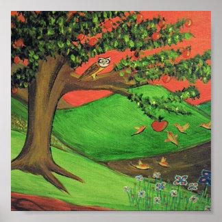 Pintura original: El árbol de Athena Poster