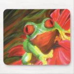 """Pintura original """"rana arbórea"""" Mousepad"""