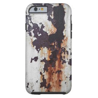 Pintura oxidada de la peladura funda resistente iPhone 6