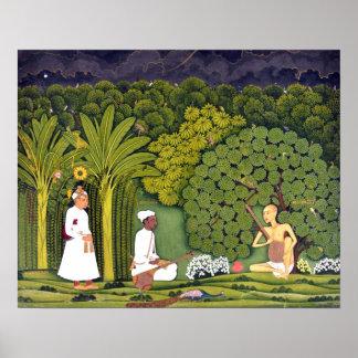 """Pintura pacífica de Haridasa del Swami"" Póster"