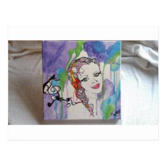 Pintura pegada amor del arte tarjetas postales