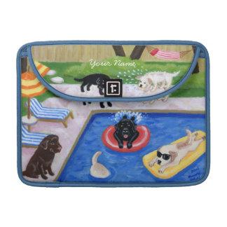 Pintura personalizada de la diversión de Labradors Funda Macbook Pro