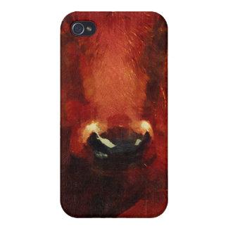 Pintura personalizada de la vaca para el rancho de iPhone 4/4S funda