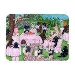 Pintura personalizada del boda de Labrador Imán Rectangular