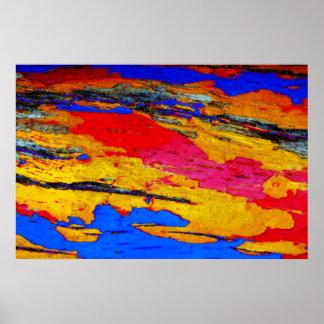 Pintura pintada de Digitaces de la corteza Impresiones