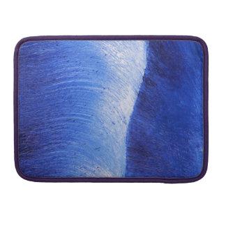 Pintura pintada extracto azul del mar del océano fundas para macbooks