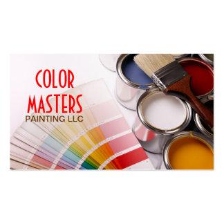 Pintura, pintor, construcción, tarjeta de visita