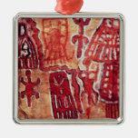 Pintura prehistórica de la roca adorno para reyes