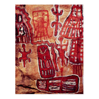 Pintura prehistórica de la roca tarjetas postales