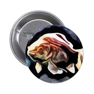 pintura profunda de la natación de los pescados pin redondo 5 cm