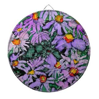 Pintura púrpura del arte de la flor del aster tablero dardos