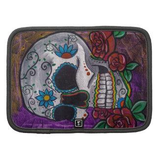 Pintura púrpura del cráneo del azúcar de las creac organizadores