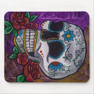 Pintura púrpura del cráneo del azúcar de las creac alfombrilla de raton