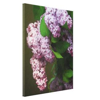 Pintura púrpura del ramo de la lila lona estirada galerias