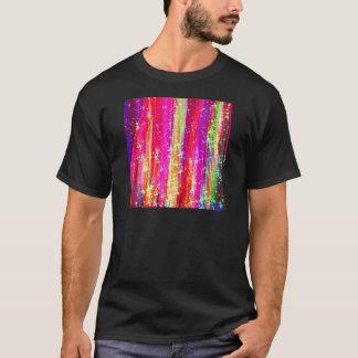 Pintura púrpura del rosa abstracto de las rayas de playera
