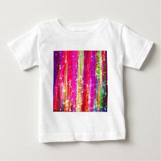 Pintura púrpura del rosa abstracto de las rayas de playera de bebé