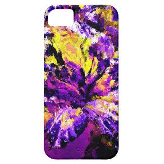 Pintura púrpura y verde del lirio de Cala iPhone 5 Case-Mate Coberturas