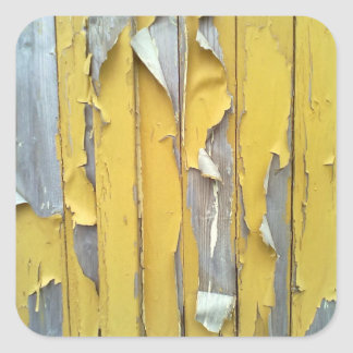 pintura que forma escamas amarilla de la pared pegatina cuadrada