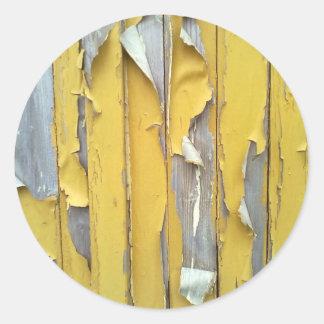 pintura que forma escamas amarilla de la pared pegatina redonda