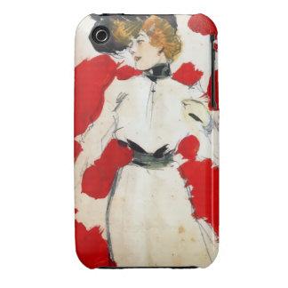 """Pintura Ramón Casas """"Dama con sombrero de plumas"""" iPhone 3 Case-Mate Funda"""