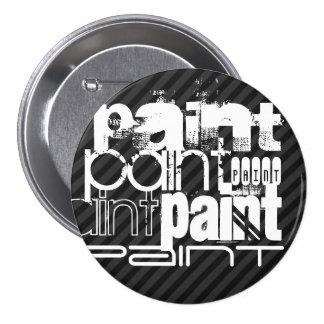 Pintura; Rayas negras y gris oscuro Chapa Redonda 7 Cm
