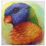 Pintura realista del lorikeet del arco iris servilletas