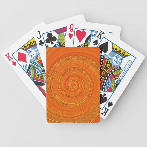 Pintura reconstruida de la vuelta cartas de juego