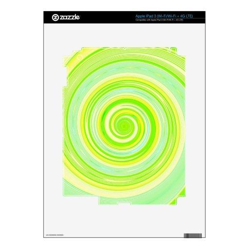 Pintura reconstruida de la vuelta pegatina skin para iPad 3