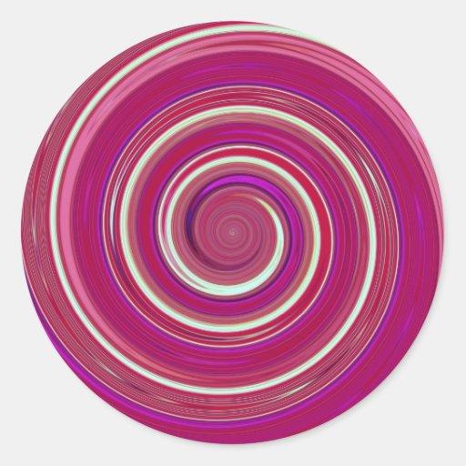 Pintura reconstruida de la vuelta pegatina redonda