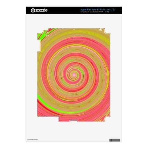 Pintura reconstruida de la vuelta pegatinas skins para iPad 3