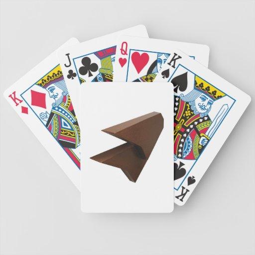 Pintura reconstruida en espacio baraja cartas de poker