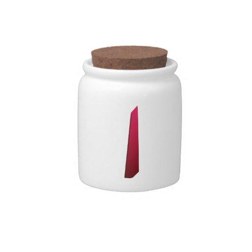 Pintura reconstruida en espacio tarro de cerámica para dulces
