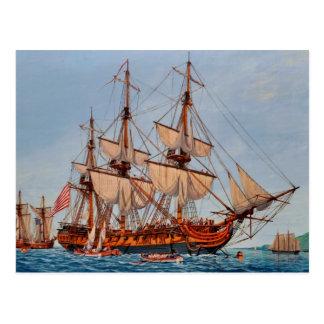 Pintura revolucionaria de la fragata Confederacy Postal