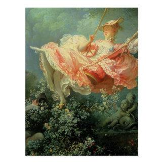 Pintura rococó de Jean-Honore Frangonard el Postal