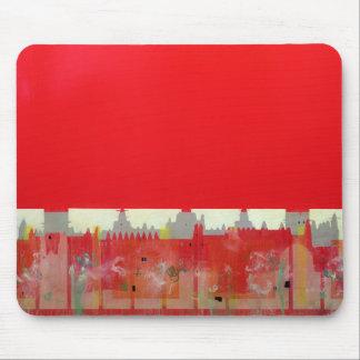 Pintura roja alfombrillas de ratón