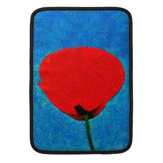 Pintura roja de la amapola fundas para macbook air