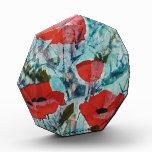 Pintura roja de la bella arte de las amapolas del