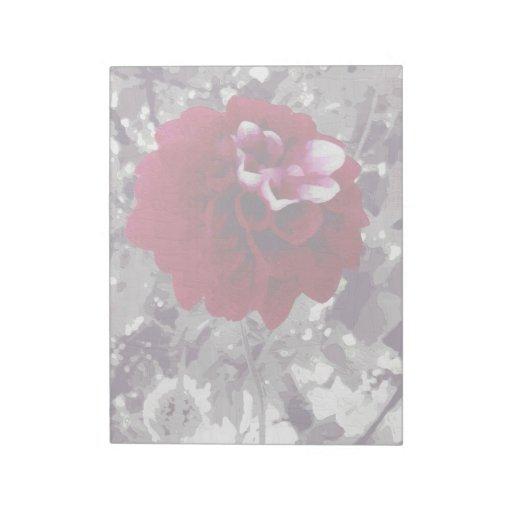 Pintura roja de la flor bloc