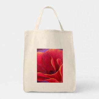 Pintura roja de la flor de la amapola - multi bolsa