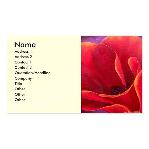 Pintura roja de la flor de la amapola - multi tarjetas personales